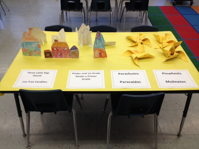K-1st grade projects at last years STEM fair