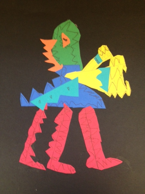 3rd grade making monsters out of shapes