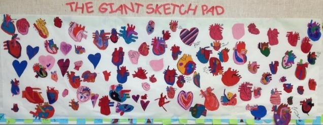 K-6 art project promoting heart health week