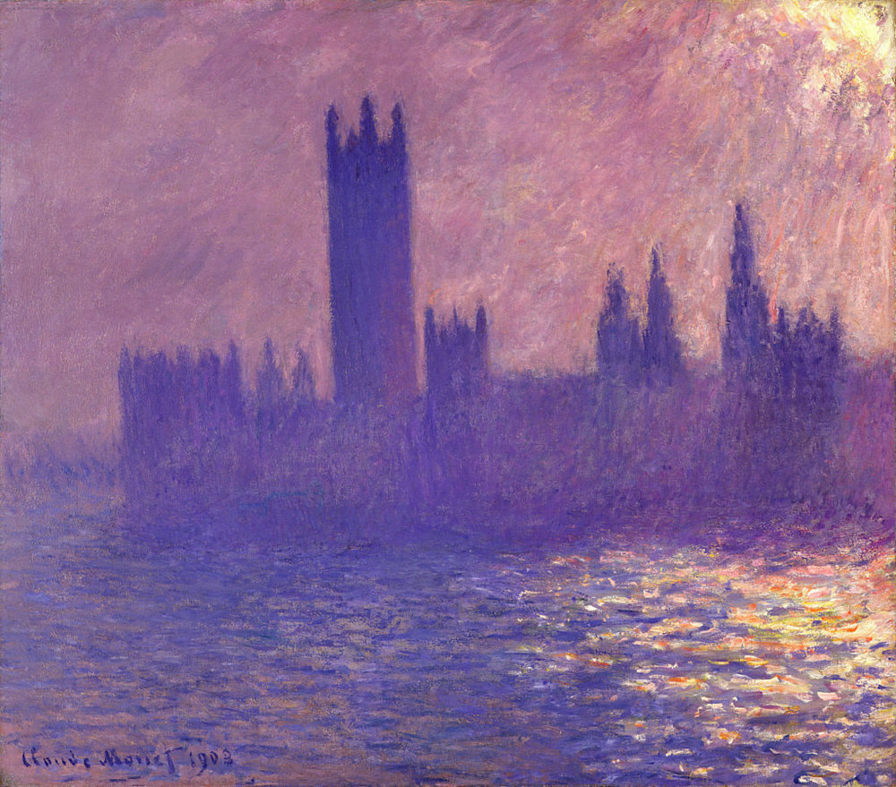 House of Parliament, Sunlight Effect by Claude Mone