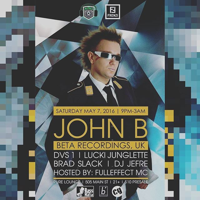 Our friends over @thecrewhtx are brining #DnB ledgend @johnbbeta to @pureloungehouston this Sat!! #BOH