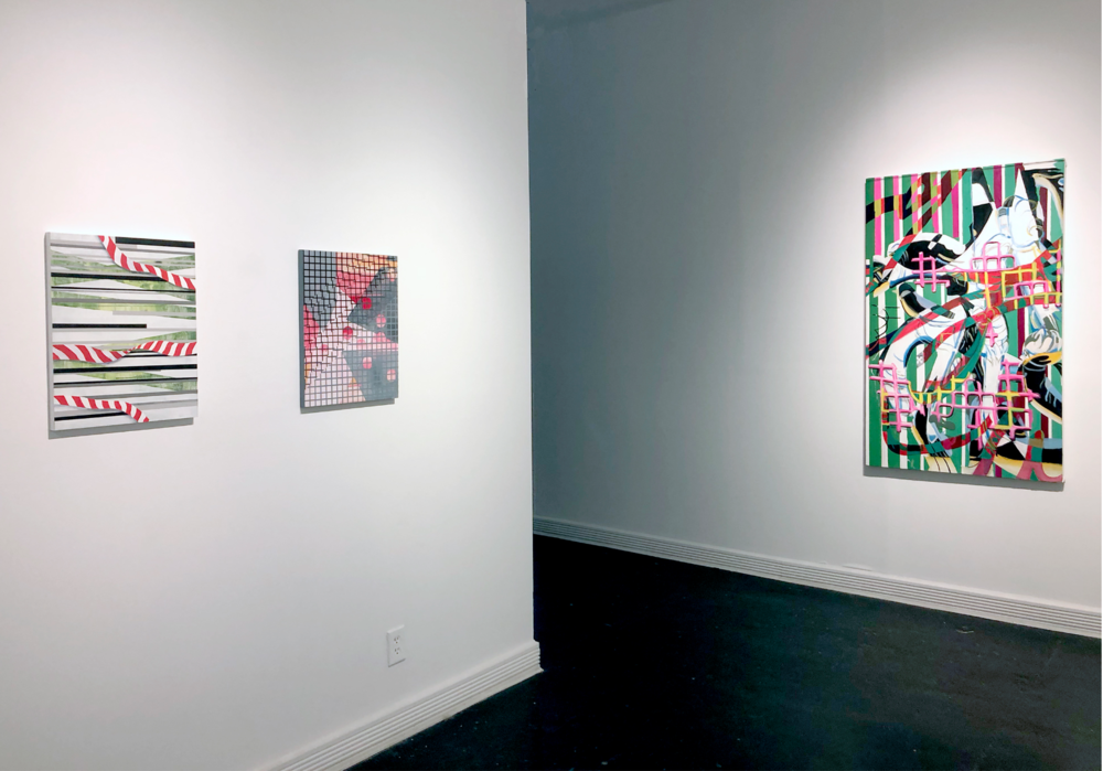 Away From You, 2018. Sara Jones on the left wall.