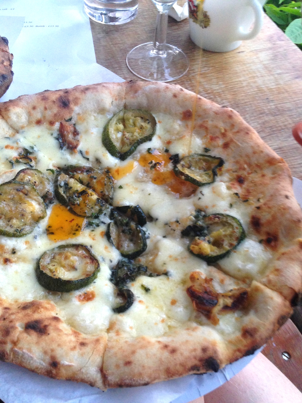 a special on at Van Dough - roasted courgette, garlic and oregano