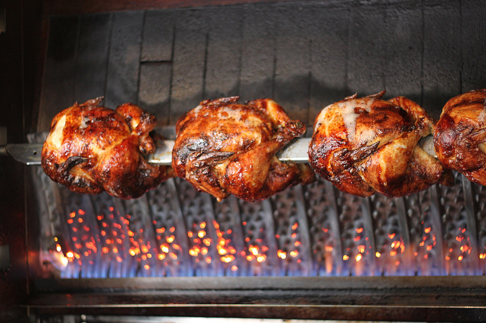 beautiful marinated rotisserie chicken at Park Road Kitchen