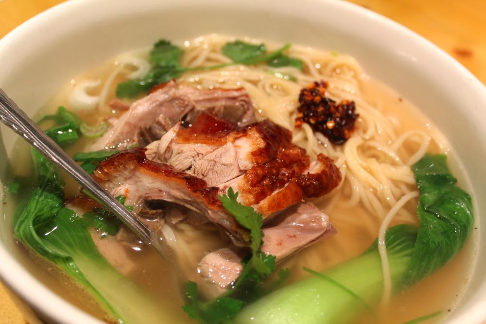 roast duck la mian at Lanzhou Noodle Bar