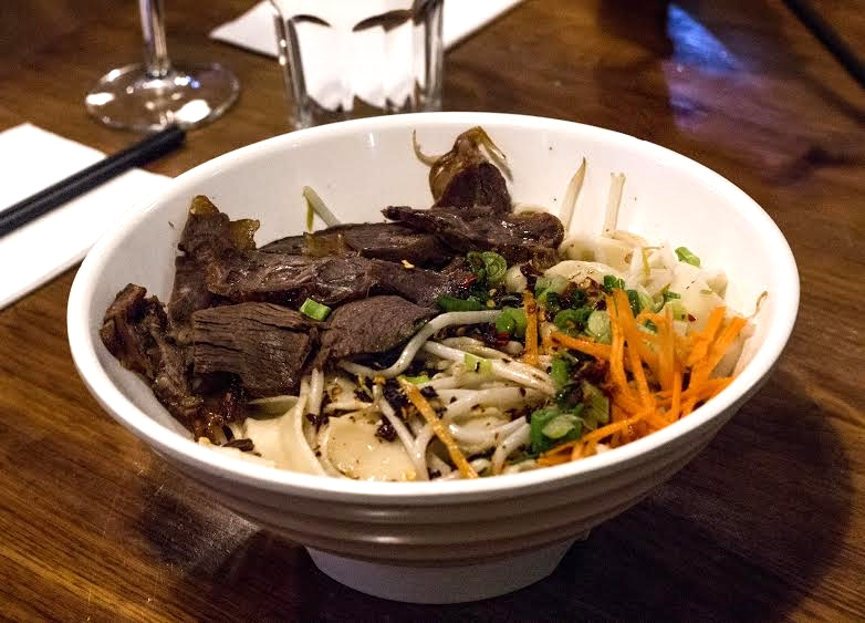 shan xi yo po beef noodle soup at Chang's Noodles
