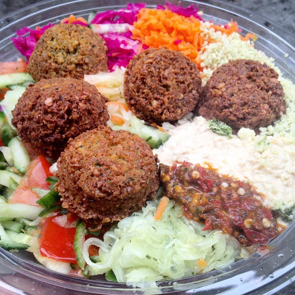 Large falafel salad from Organic Chickpeas