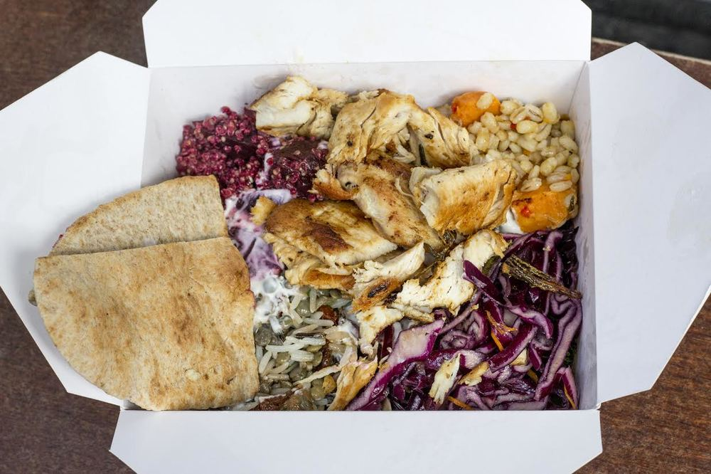 roast chicken and halloumi salad from Savage Salads