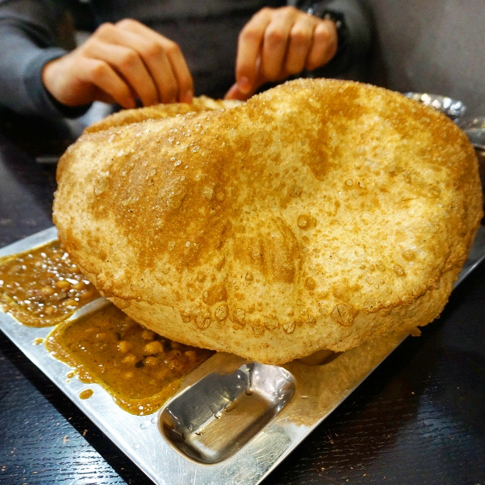 channa butara at Saravana Bhavan