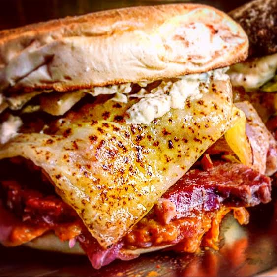 The Duke bagel in all its glory at The Bell & Brisket. Photo: Katy Riddle