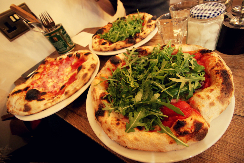 lovely pizzas at Flour to the People!