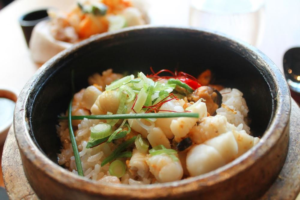 seafood rice bowl - course two of the £7 lunch at Bibigo Angel
