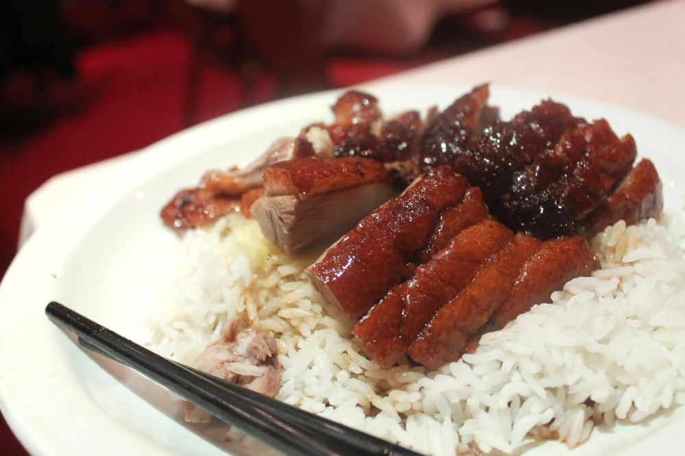 roast duck and rice from Gold Mine
