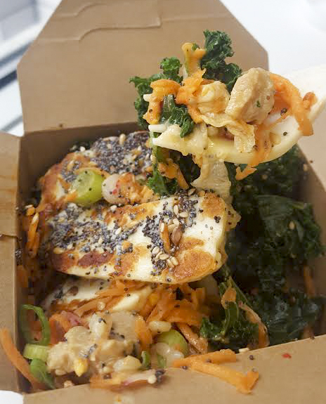Buddha Bowl with halloumi from Wholefood Heaven Van, Whitecross Market