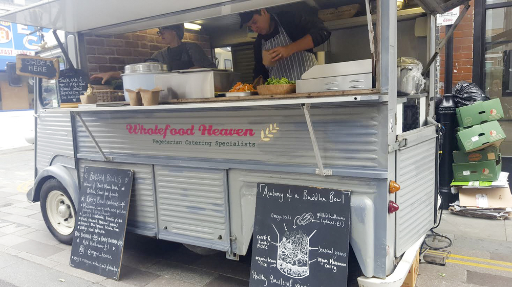 Wholefood Heaven van, Whitecross Market