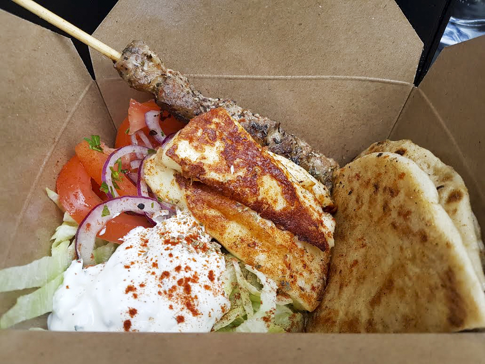 Souvlaki box from The Athenian