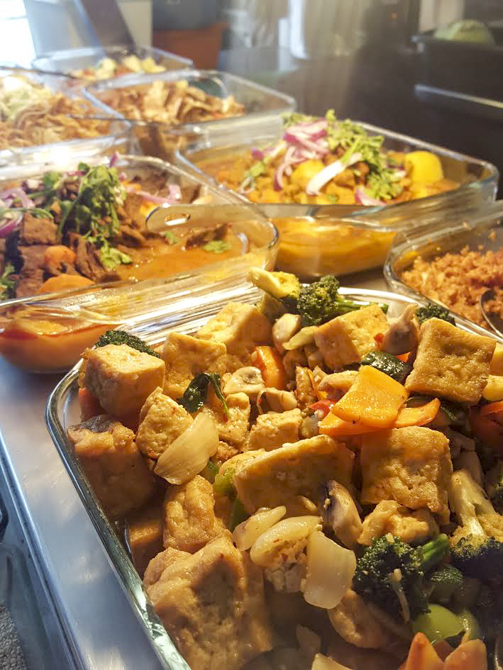 vegan Thai Chinese buffet in Camden