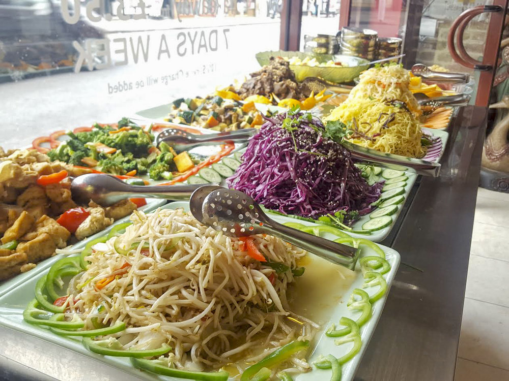 vegan Thai Chinese buffet at Dou Dou, Camden