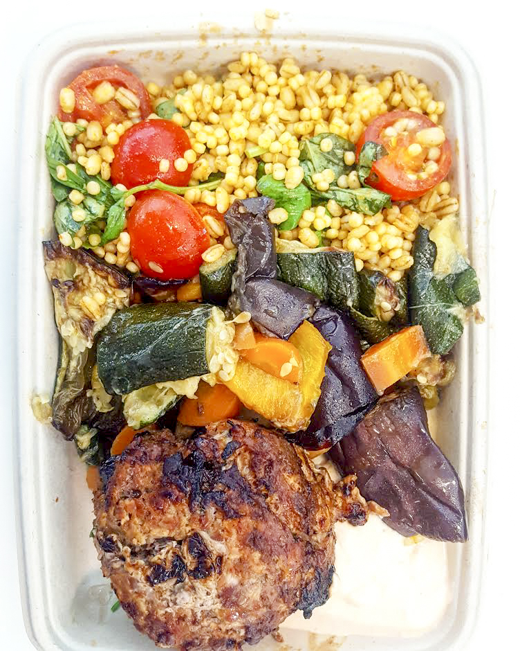 salad box with protein at Simple Health Kitchen