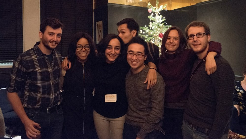 The London Cheap Eats team: Ali, Bisi, Leyla, Kar-Shing, Ed, Steph, and Matt