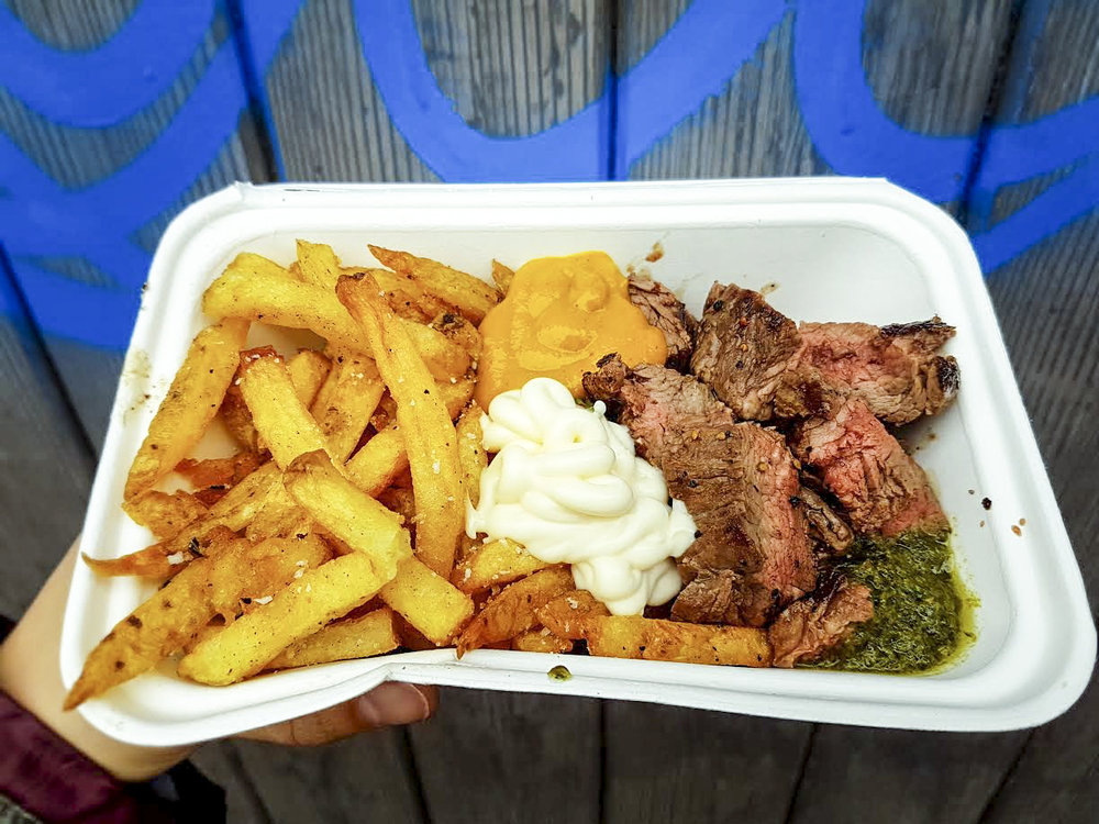steak, rosemary fries, and a secret sauce, STAKEhaus in Camden