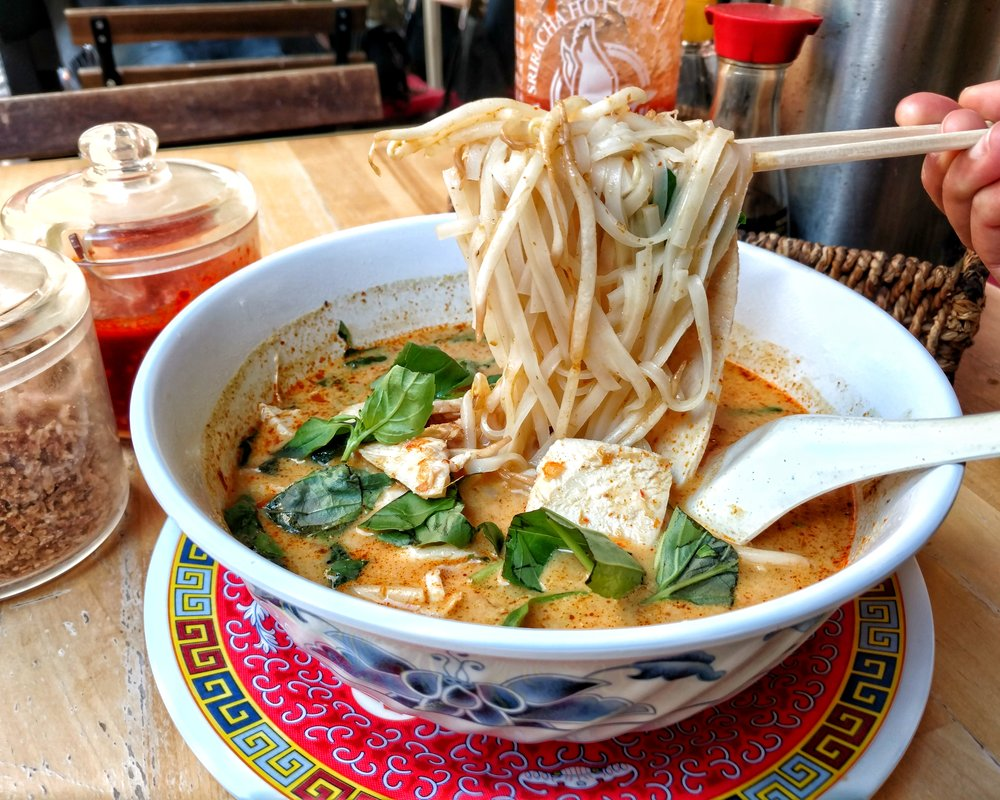 chicken laksa from Phat Phuc Noodle Bar, Chelsea