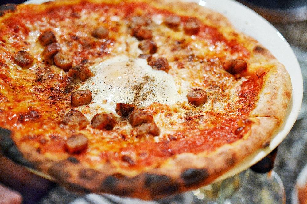 pizza from La Porchetta Pollo Bar in Soho