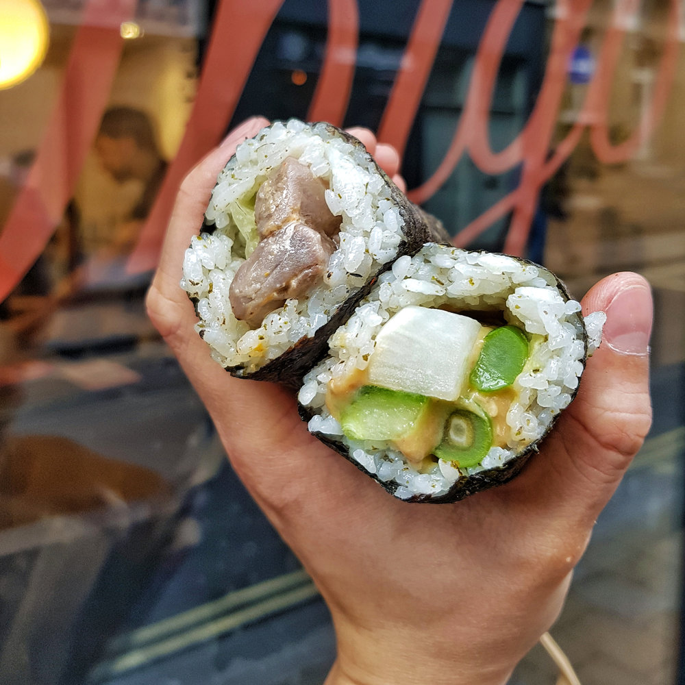 sushi roll at Inigo, Soho