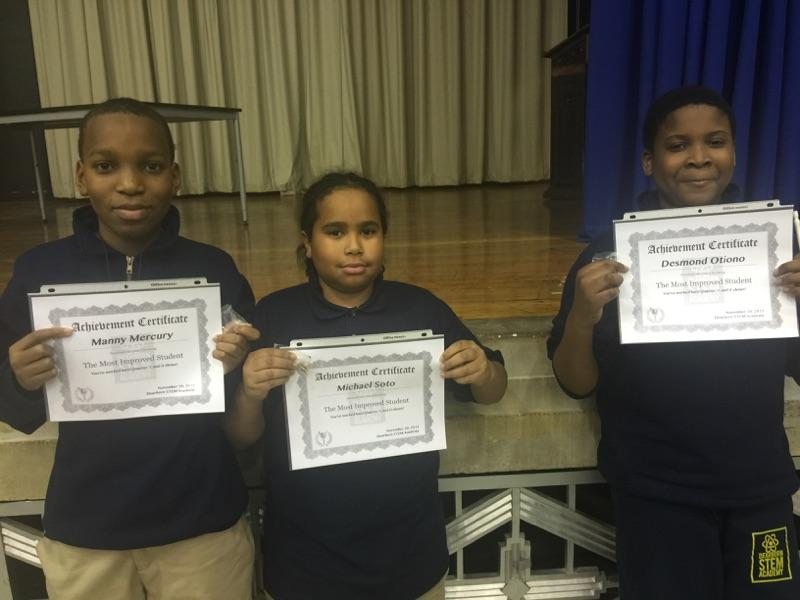 6th Grade Most Improved Students