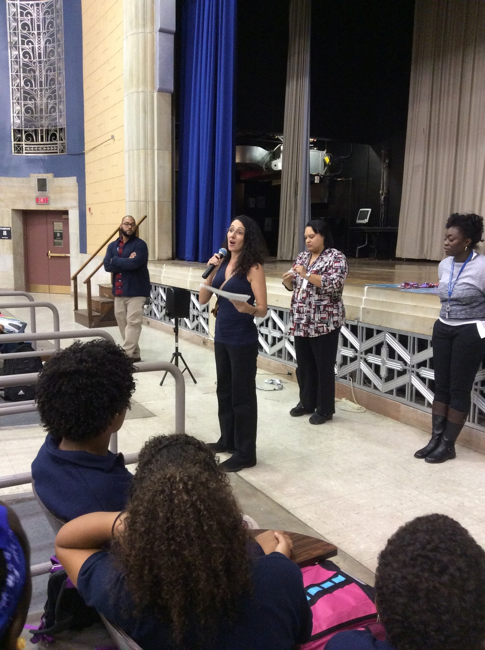 Ms. Lioz Handing Out Middle School Awards