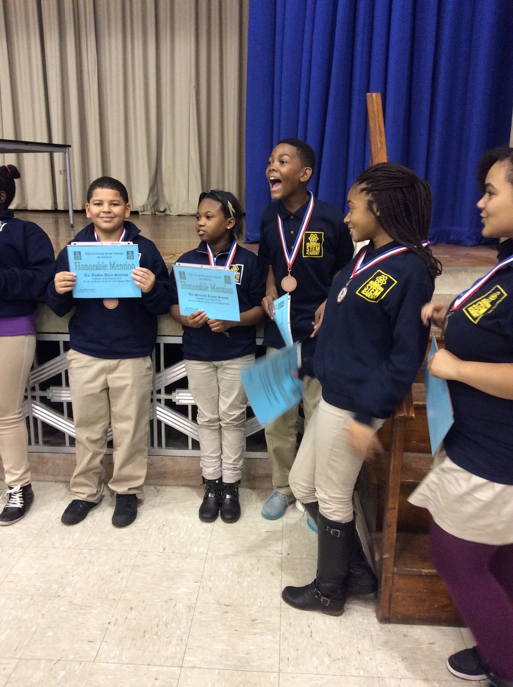 6th Grade Honorable Mentions