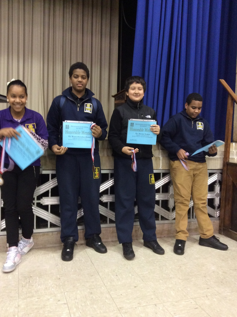 9th Grade Honorable Mentions