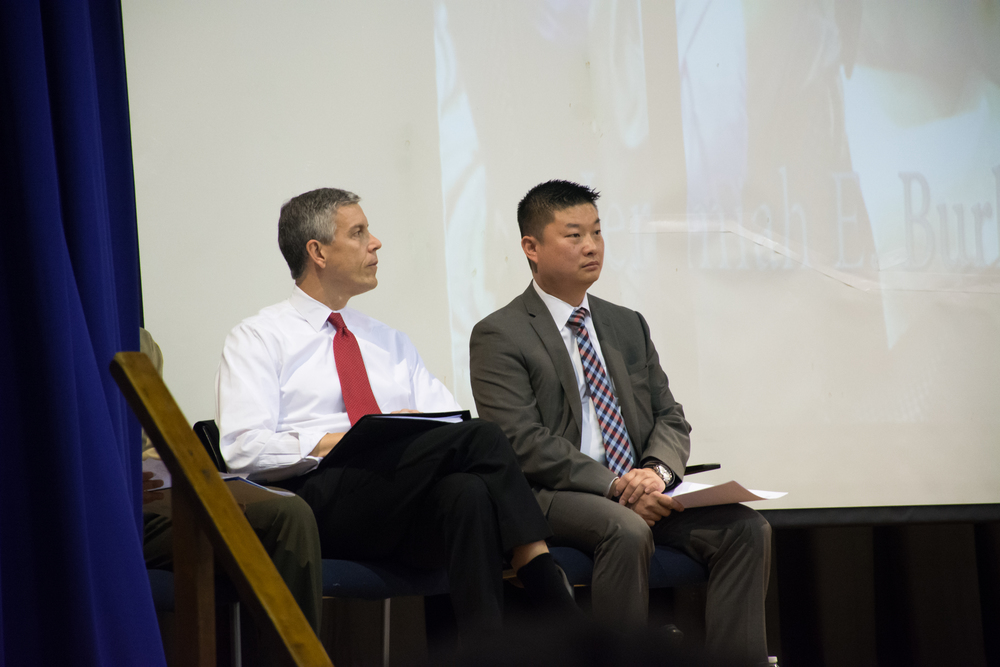 Mr. Secretary and BPS Superintendent Tommy Chang