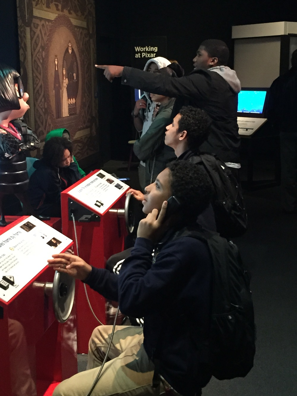 Ms. Bruno's 10th grade computer science class at the Museum of Science