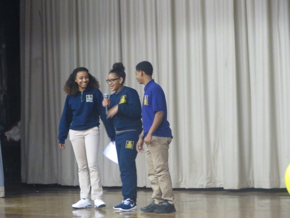 11th graders Orlanda, Ayanne and Ely give inspirational speeches in their run for High School President