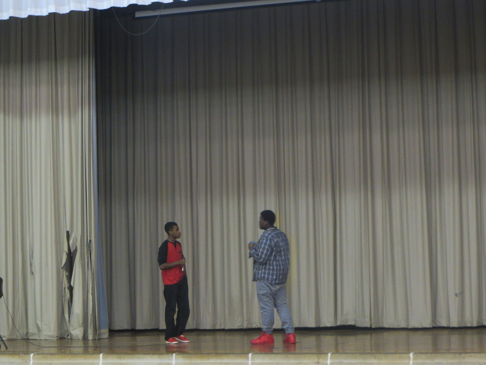 10th graders Jalen and Mathias move the crowd with their extremely well crafted original raps!