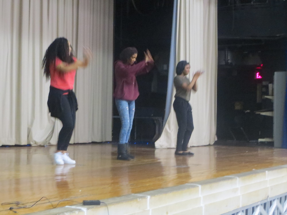 Our talented high school role models Rosilda (10th grade), Maria (11th grade)and Mecaill (9th grade) close the show out with an outstanding dance to a mashup they put together!