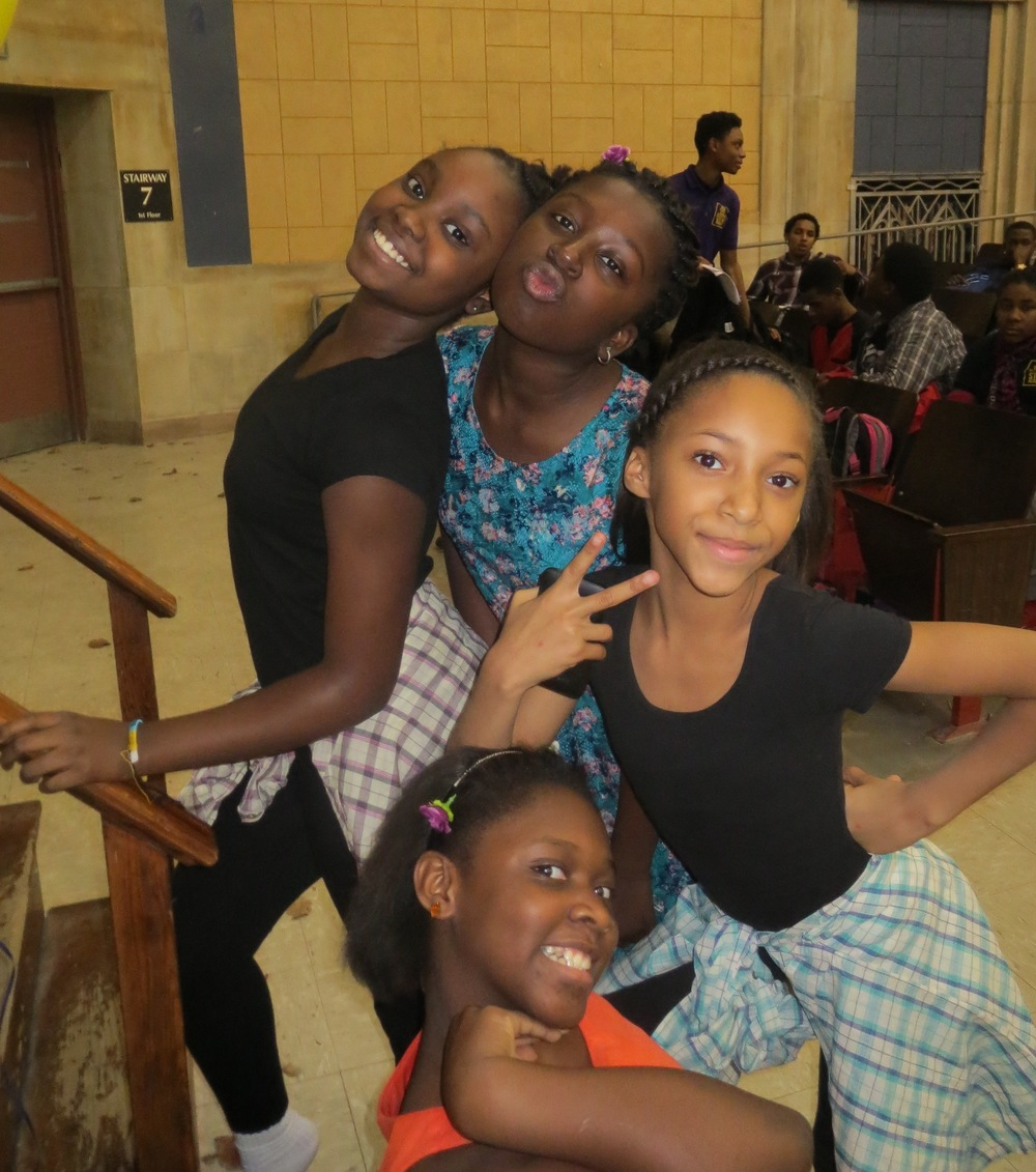 Our 6th grade superstars: Nya, Niaysa, Oumou and Rose