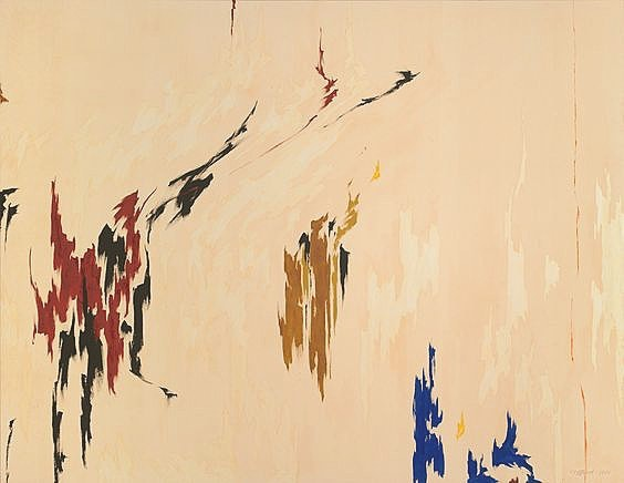 Minimal yet beautifully complex. Some blurred shapes, a few carefully selected colors, an unexpected yet balanced composition, and I'm in love💕 @still_museum #clyffordstill #abstractexpressionism #abstractexpressionist #marirozainspiration #designinspiration