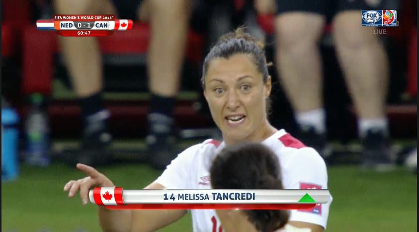 Canada v the netherlandsat 2015 FIFA Women's world cup
