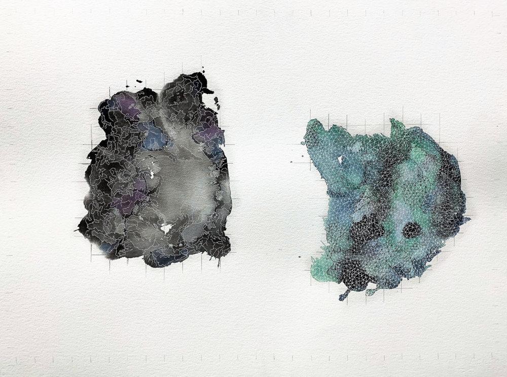 JordanLitzinger_When We Met in the Break Room (Daniel)_2018_Watercolor, Pen, Graphite_22inx30in.jpg