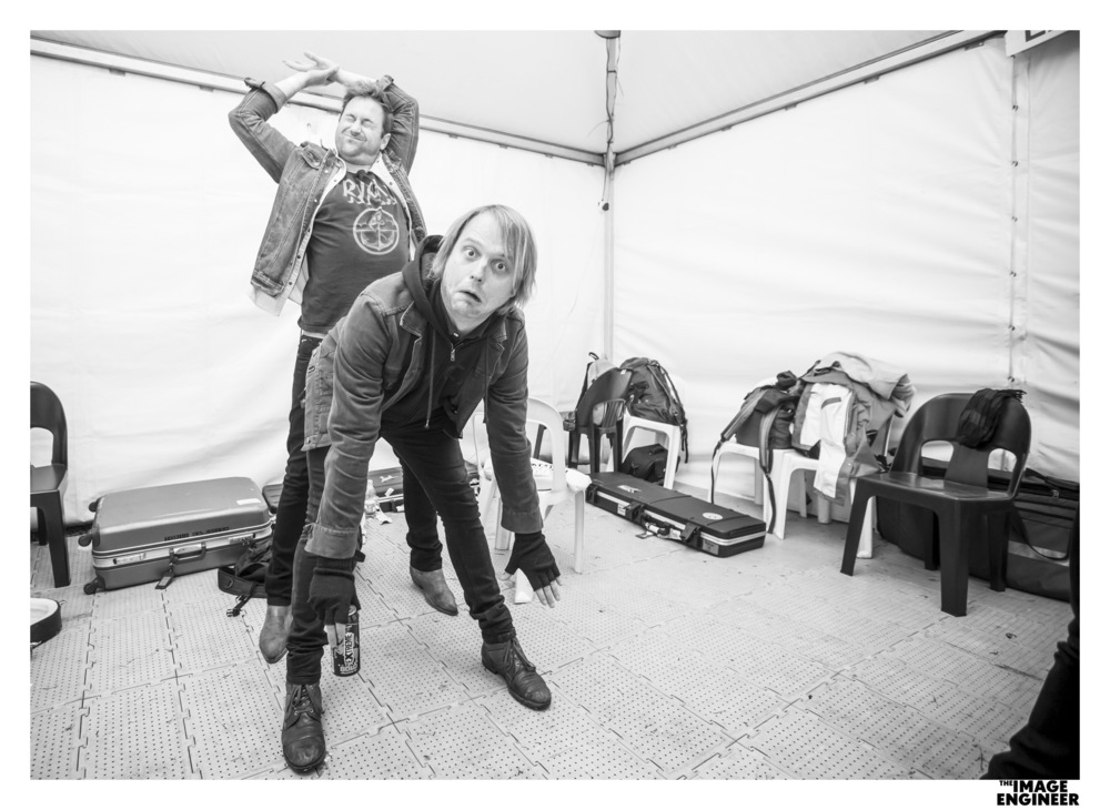 It's always important to stretch before a show