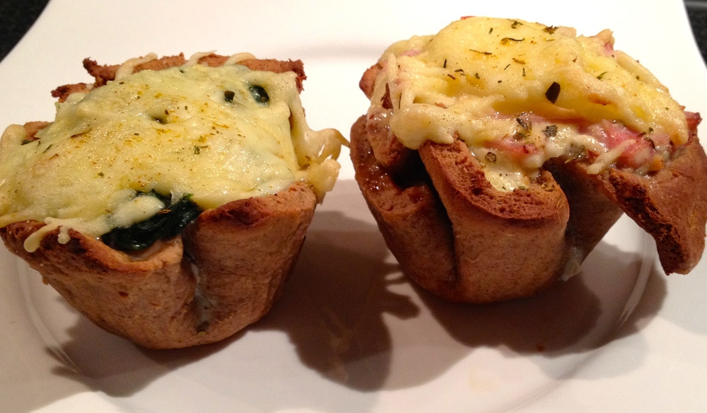 baked pizza cups