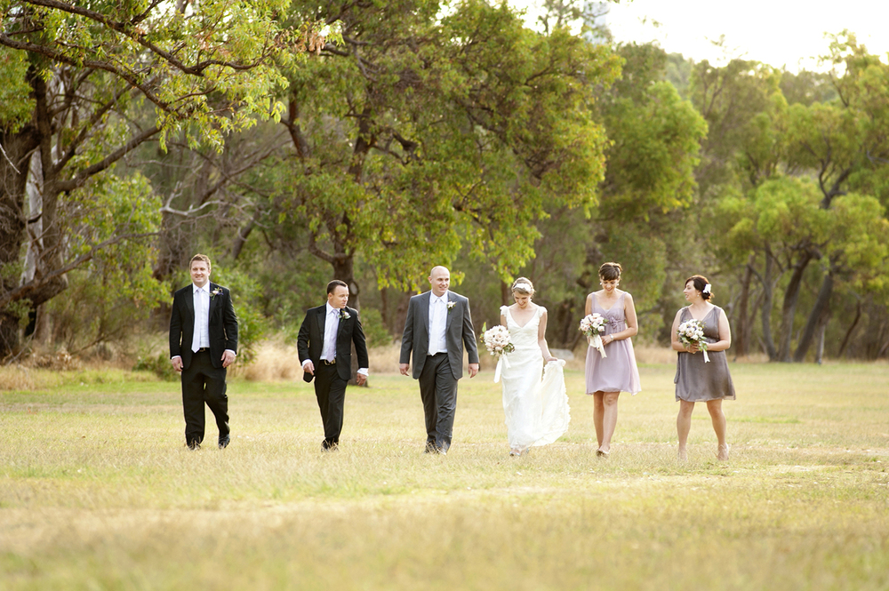 bridal party in kings park perth