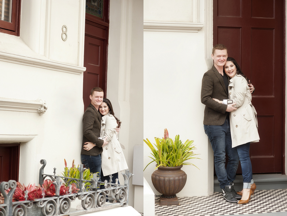 perth engagement photos in fremantle heritage buildings
