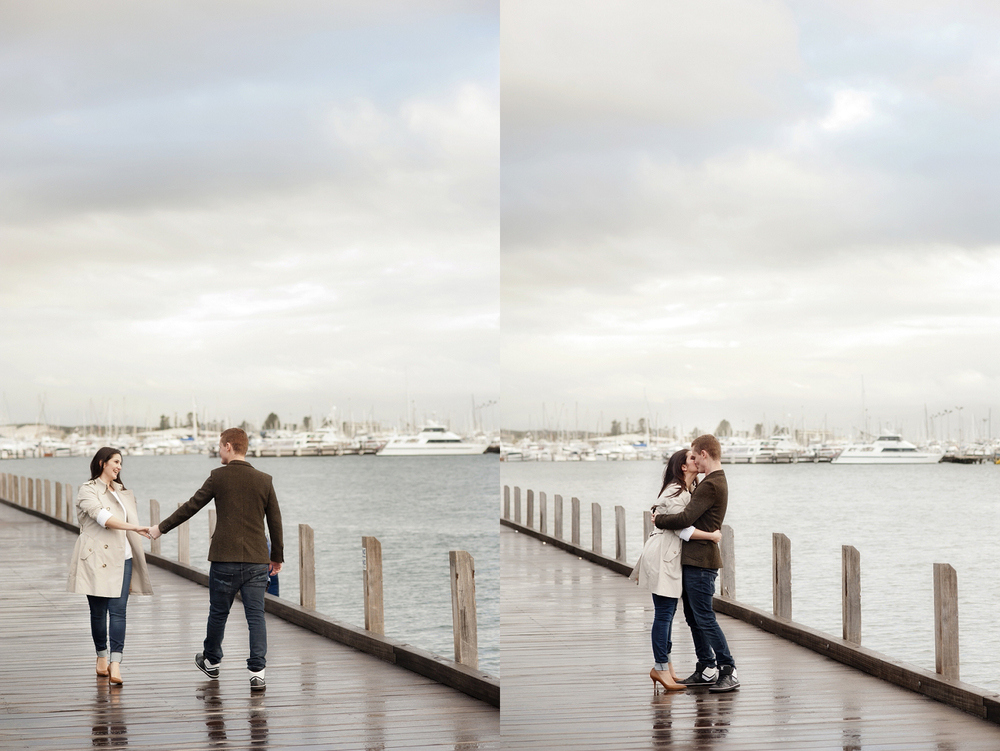 perth engagement photos in fremantle fishing boat harbour