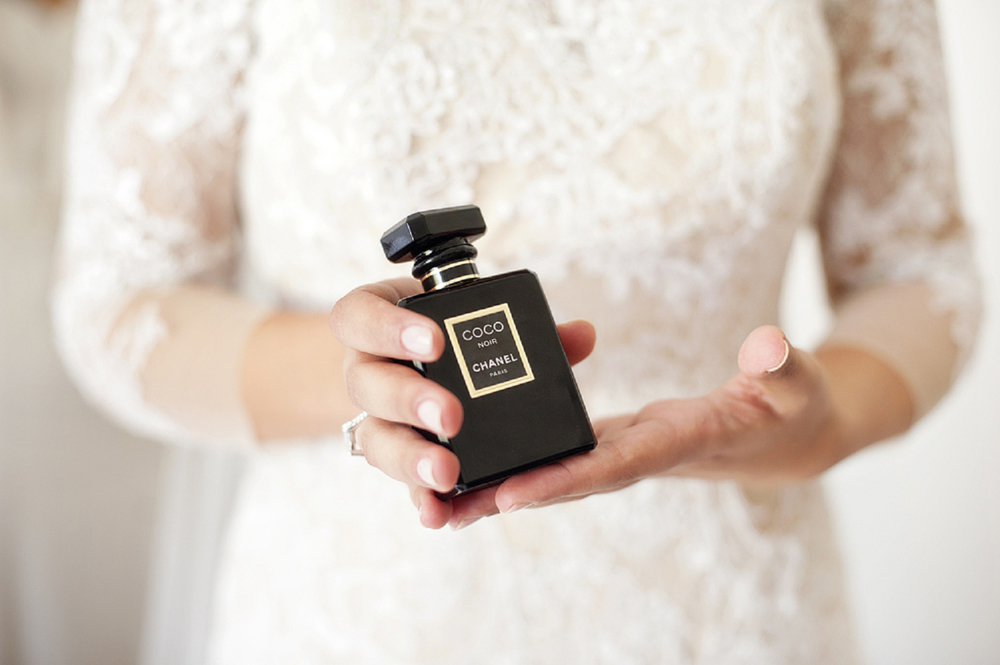 chanel wedding perfume with lace dress perth