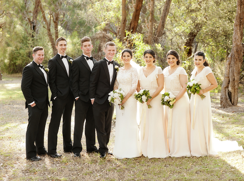 bridal party in kings park perth wedding photography