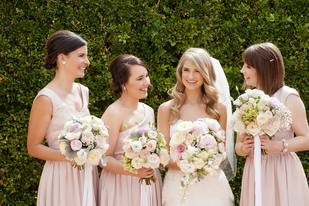 pastel pink bridesmaids perth wedding photography