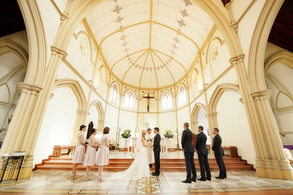 catholic wedding at st josephs subiaco